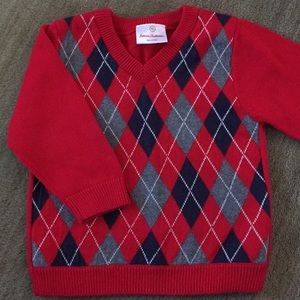 NWT Hanna Andersson Argyle Sweater, size 80